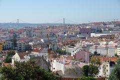 Panoramic view of central Lisbon Stock Image