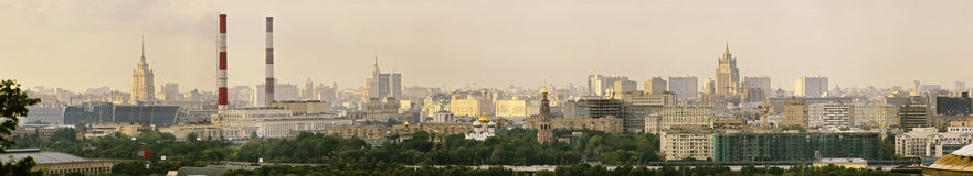 Panoramic view of central Moscow. Russia Royalty Free Stock Photo