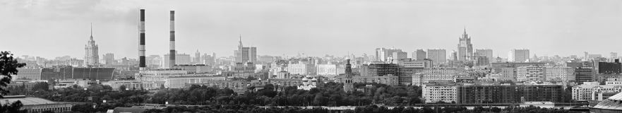 Panoramic view of central Moscow. Russia Royalty Free Stock Photography