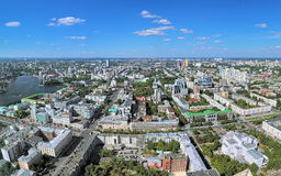 Panoramic view of the central and northern parts of Yekaterinburg, Russia Stock Photography