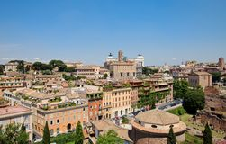 Panoramic view central part of Rome Royalty Free Stock Photos