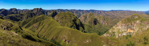 Panoramic view of the Cerro Cathedral, Codo de los Andes & x28;Elbow of the Andes& x29;, Samaipata, Sucre, Bolivia Stock Photos
