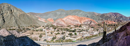 Panoramic view of Cerro de los Siete Colores, Argentina Stock Photo