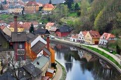 Panoramic view of Cesky Krumlov. Stock Images