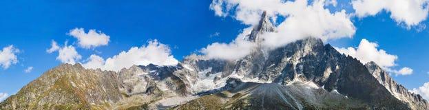 Panoramic view of Chamonix-Mont-Blanc Royalty Free Stock Image