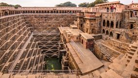 A panoramic view of Chand Baori stepwell