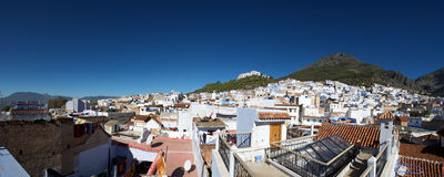 Panoramic view of Chaouen Royalty Free Stock Photo