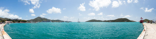 Panoramic view of  Charlotte Amalie St Thomas Royalty Free Stock Image