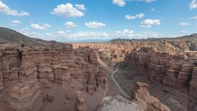 Panoramic view of Charyn Canyon, Kazakhstan. Panoramic view of Charyn Canyon in Almaty Region, Kazakhstan stock video footage