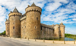 Panoramic view of Chateau de Suscinio in Gulf of Morbihan, Britt. Any (Bretagne), France Stock Photo