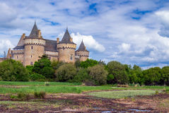 Panoramic view of Chateau de Suscinio in Gulf of Morbihan, Britt. Any (Bretagne), France Stock Image