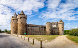 Panoramic view of Chateau de Suscinio in Gulf of Morbihan, Britt. Any (Bretagne), France Royalty Free Stock Images