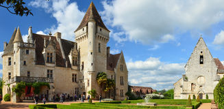 Panoramic view of the chateau des Milandes Stock Image