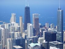 Panoramic view of Chicago Stock Photos