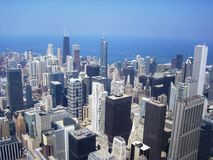 Panoramic view of Chicago Royalty Free Stock Photo