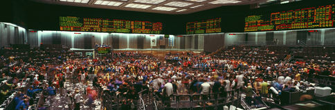 Panoramic view of Chicago Mercantile Exchange Stock Photos