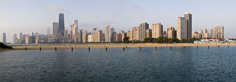 Panoramic view of Chicago from North Ave beach. XXL Royalty Free Stock Photo