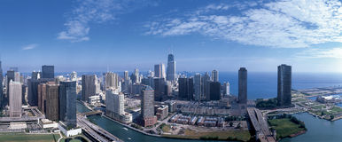 Panoramic view of Chicago skyline Royalty Free Stock Photos