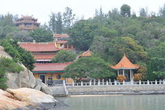 The panoramic view of chinese dongming temple Royalty Free Stock Photo