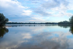 Panoramic view of Chipping Norton lake in Sydney, Australia Stock Photos
