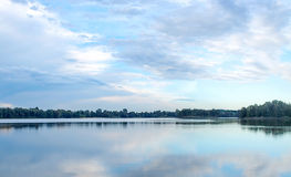 Panoramic view of Chipping Norton lake in Sydney, Australia Royalty Free Stock Photo