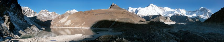 Panoramic view of Cho Oyu Royalty Free Stock Photos