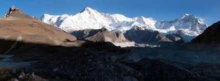 Panoramic view of Cho Oyu Royalty Free Stock Photography