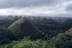 Panoramic view of the Chocolate Hills in Bohol Stock Photos