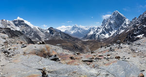 Panoramic view from Chola pass Royalty Free Stock Images