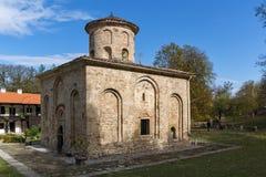Panoramic view of church in  medieval  Zemen Monastery, Bulgaria Royalty Free Stock Photos
