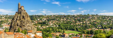 Panoramic view at the church Saint Michel d Aiguilhe - France Royalty Free Stock Photo