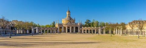 Panoramic view at the church San Antonio of Aranjuez. In Spain Stock Photos
