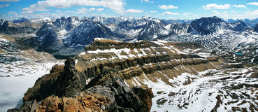 Panoramic view from Cirque peak Stock Photography
