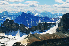 Panoramic view from Cirque peak, Banff national park Stock Images