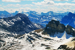 Panoramic view from Cirque peak, Banff national park Royalty Free Stock Photos