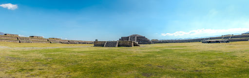 Panoramic view of Citadel and Quetzalcoatl Pyramid at Teotihuacan - Mexico City, Mexico Royalty Free Stock Photos
