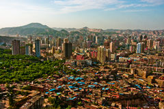 a panoramic view of the city,Lanzhou,Gansu,China Royalty Free Stock Photo