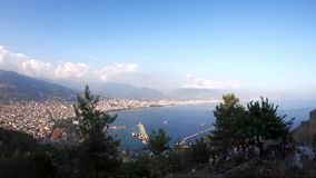 Panoramic View of the city of Alanya in Turkey. stock video