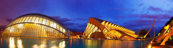 Panoramic view of City of Arts and Sciences Royalty Free Stock Photo
