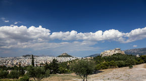 Panoramic view of the city of Athens, Greece Stock Photography