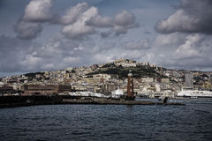 Panoramic view of the city and the Bay of Naples. Italy Stock Photos