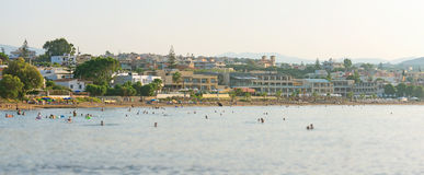 Panoramic view of the city and beach. Stock Image