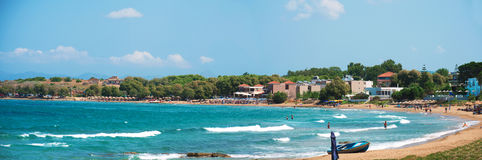 Panoramic view of the city and beach. Stock Photography