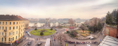 Panoramic view of city Budapest Royalty Free Stock Photos