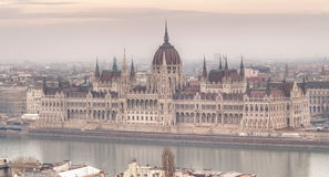 Panoramic view of city Budapest Stock Image