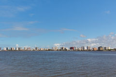 Panoramic view of city center, Aracaju, Sergipe, Brazil. Panoramic view of city center, buildings, hotels and river, Aracaju, Sergipe, Brazil Royalty Free Stock Image