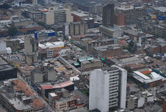 Panoramic view of city center of Bogota Royalty Free Stock Photography