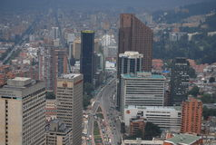 Panoramic view of city center of Bogota Stock Photo