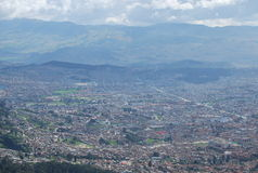 Panoramic view of city center of Bogota Stock Photography