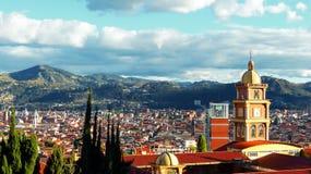 Panoramic view of the city Cuenca, Ecuador royalty free stock photo